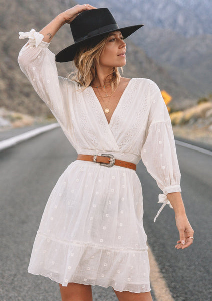 Free Spirit White Mini Dress