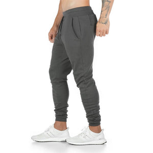 Joggers Sweatpants Men Casual Pants Solid Color Gyms Fitness Workout