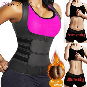 Sweat Waist Trainer Vest Slimming Corset for Weight Loss Body Shaper Sauna Suit Compression Shirt Belly Girdle Tops Shapewear