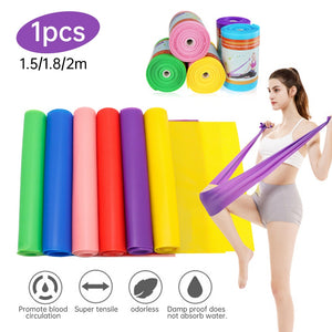 6 Colors Yoga Resistance Bands Set Elastic Band for Fitness Gym TPE Bands For Gum Set Sport Yoga Exercise Workout Traning Strap