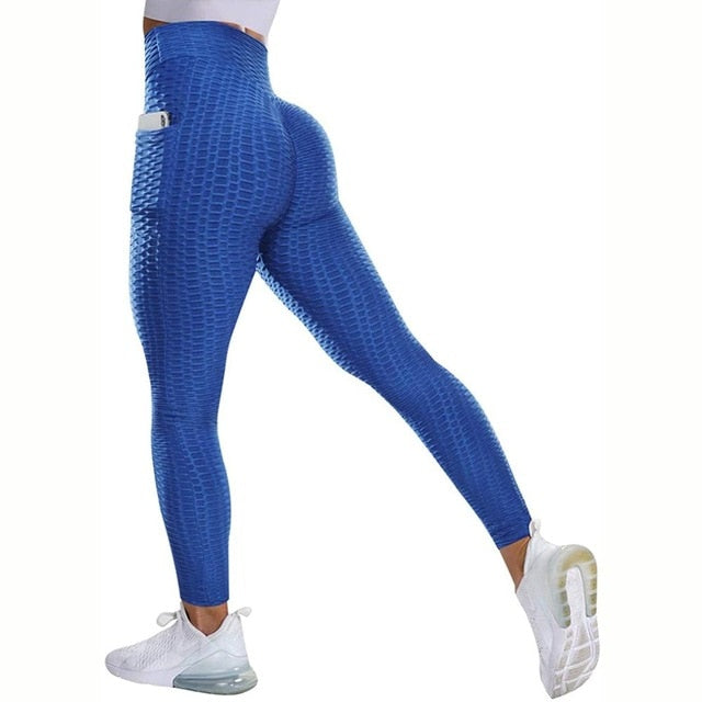 High Waist Leggings With Pocket Women Sport Fitness Legging No See Through Thick Legins Butt Lift Seamless Workout Gym Pants