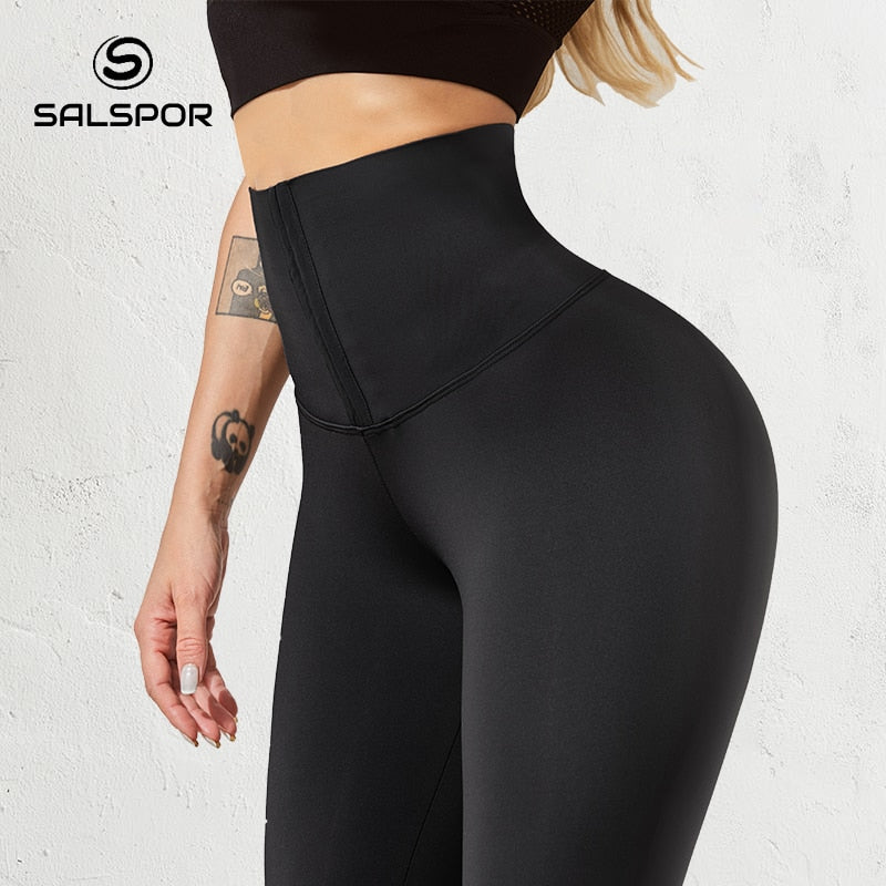SALSPOR Women High Waist Warm Legging Ladies Sexy Push Up Leggings For Fitness Sports Leggins Corset Slim Sportswear Femme Pants