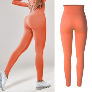 Women High Waist Scrunch Leggings Booty Push Up Workout Legging Butt Lifting Seamless Stretchy Leggins Smile Contour Sport Pants