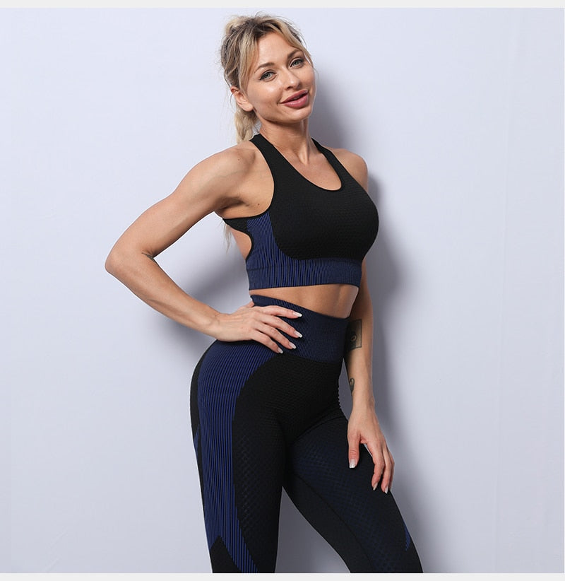 Women yoga set gym clothing Female Sport fitness suit Running Clothes yoga top+  Leggings women Seamless gym yoga bra suits S-XL