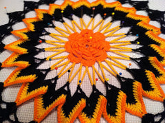 Crochet Trick or Treat Doily from Ravelry