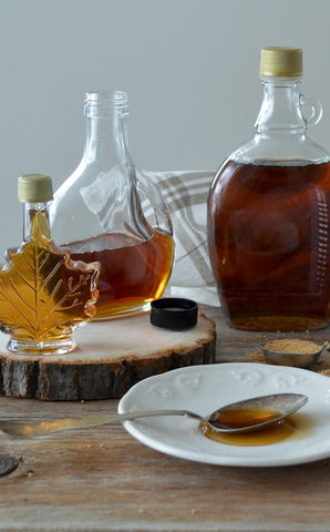 Maple Taffy DIY - how to make Maple Taffy - maple syrup bottles