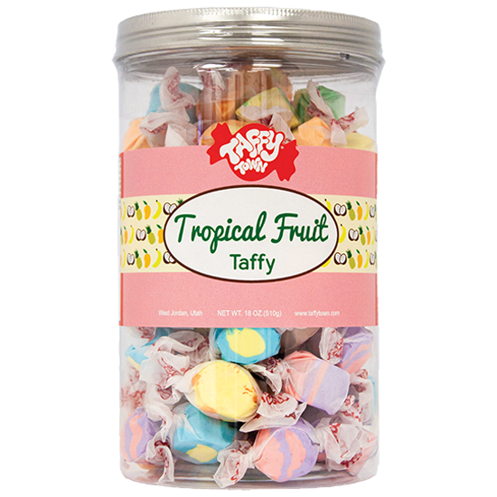 Tropical Fruits Taffy Gift Canister (18 oz.)