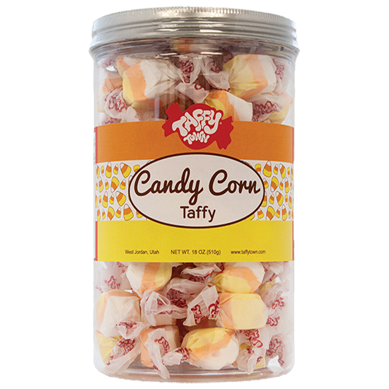 Candy Corn Taffy Gift Canister (18 oz.)