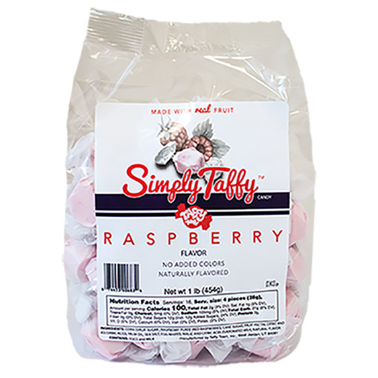 Simply Raspberry Taffy (1 lb. Bag)