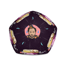 Load image into Gallery viewer, I'll Be Fine Bean Bag Chair w/ filling its shaped in the form of a sack and its got my face on it, so take a seat, its not weird