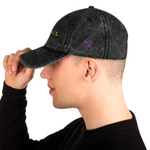 Load image into Gallery viewer, Circle nostalgic logo Dark and light jean Vintage Twill Cap