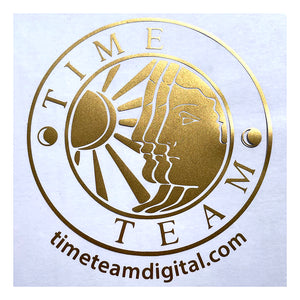 Time Team Gold Window Sticker
