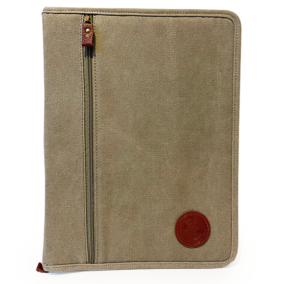 Time Team Canvas and Leather Folder