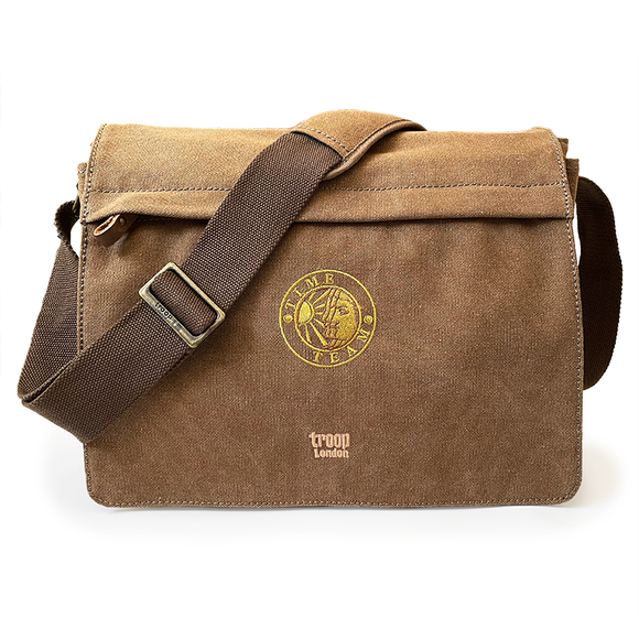 Canvas Messenger Laptop Bag - Brown