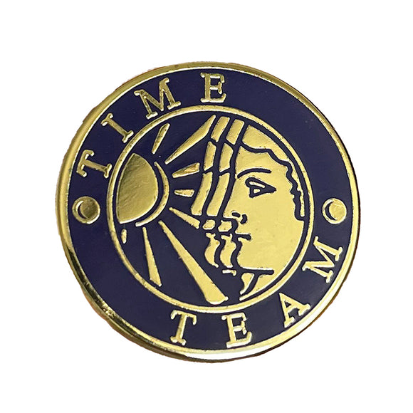 Enamel Time Team Pin Badge