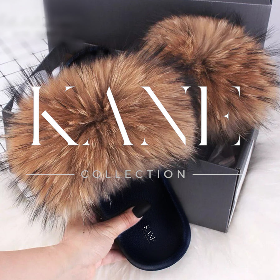 Raccoon Fur Slides