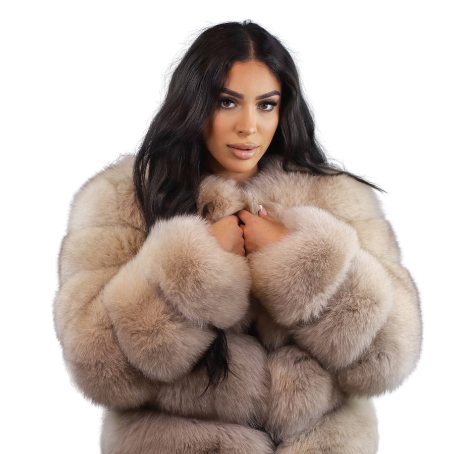Caro Fox Fur Coat
