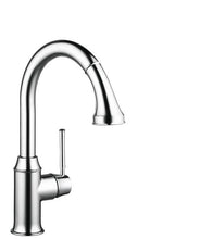 Load image into Gallery viewer, Hansgrohe 04215000 Talis C High-Arc Pull-Down Kitchen Faucet with Magnetic Docking Spray Head and Locking Diverter in Chrome
