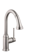 Load image into Gallery viewer, Hansgrohe 04215800 Talis C High-Arc Pull-Down Kitchen Faucet with Magnetic Docking Spray Head and Locking Diverter in Steel Optic