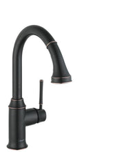 Load image into Gallery viewer, Hansgrohe 04215920 Talis C High-Arc Pull-Down Kitchen Faucet with Magnetic Docking Spray Head and Locking Diverter in Rubbed Bronze