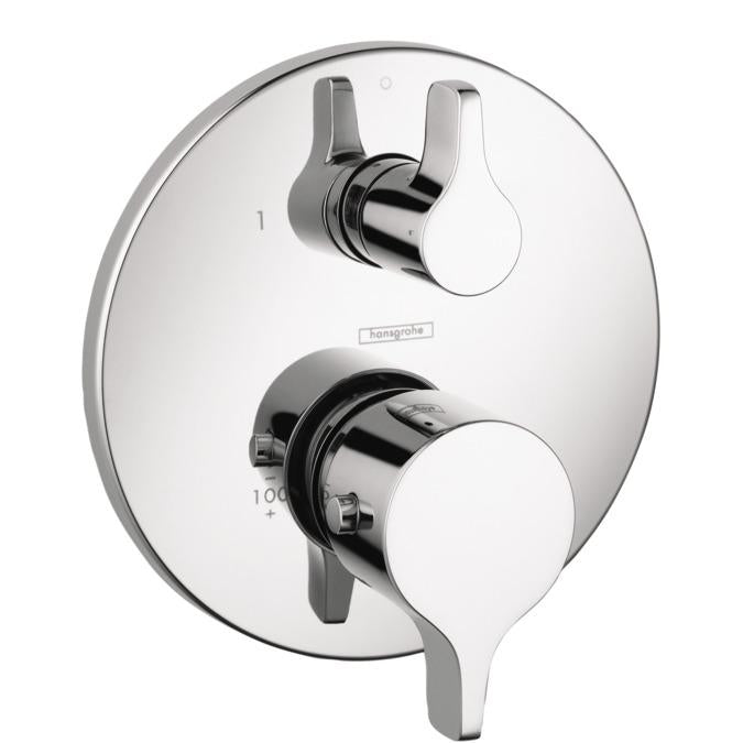 Hansgrohe 04230000 S Thermostatic Valve Trim with Integrated Volume Control - Less Valve in Chrome
