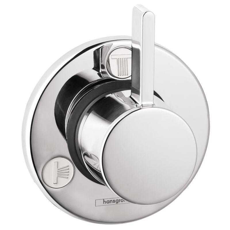 Hansgrohe 04232000 S Trio/Quattro Diverter Trim - Less Valve in Chrome