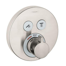 Load image into Gallery viewer, Hansgrohe 15743821 Shower Select Round Thermostatic 2-Function Trim in Brushed Nickel