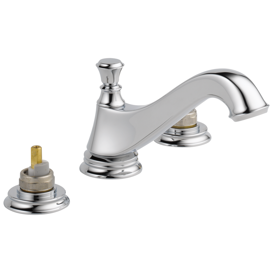 Delta 3595LF-MPU-LHP Cassidy Two Handle Widespread Lavatory Faucet - Low Arc Spout - Less Handles