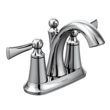 Load image into Gallery viewer, Moen 4505 Wynford Two Handle High Arc Bathroom Faucet in Chrome