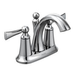 Moen 4505 Wynford Two Handle High Arc Bathroom Faucet in Chrome