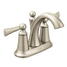 Load image into Gallery viewer, Moen 4505 Wynford Two Handle Bathroom Faucet in Brushed Nickel
