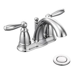 Moen 6610 Brantford Two Handle High Arc Bathroom Faucet in Chrome