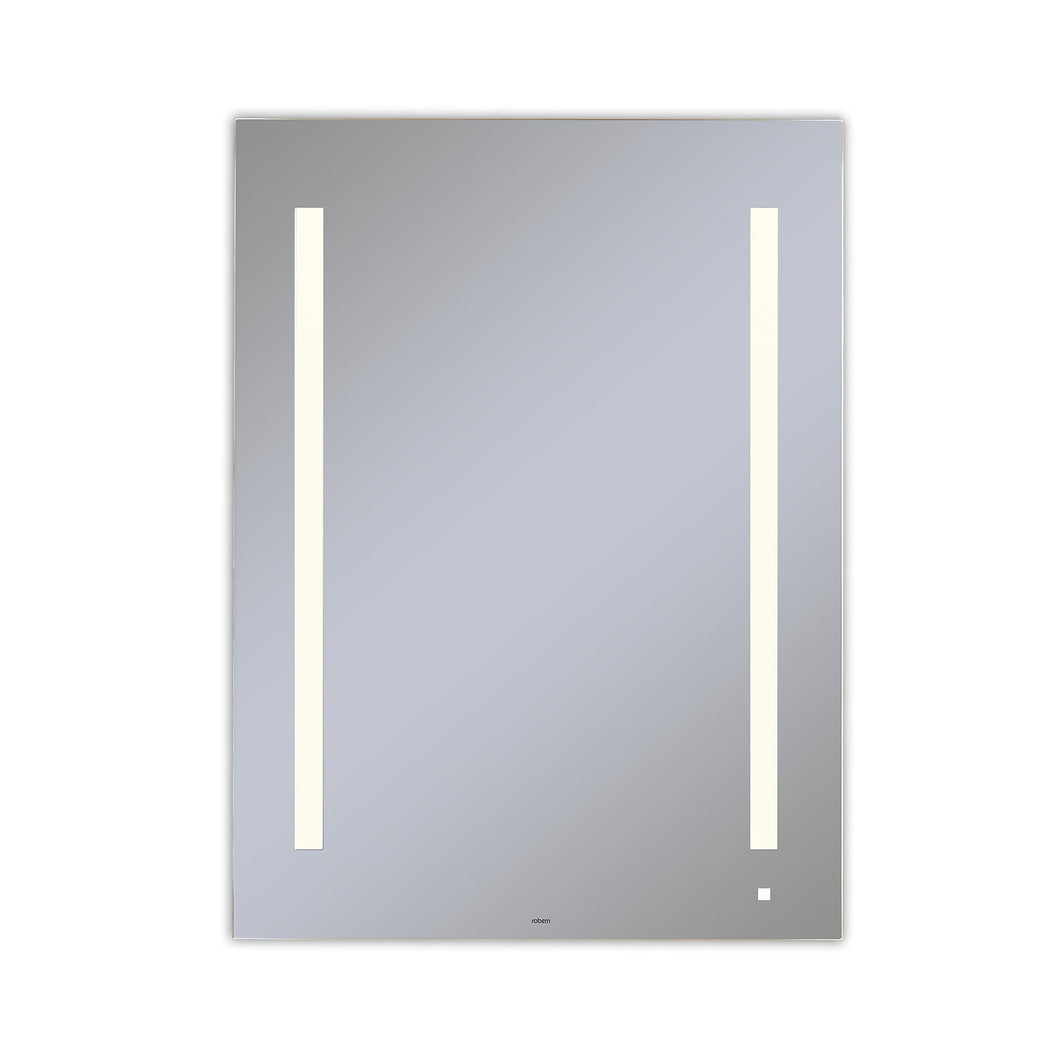 "AiO 29-1/8"" x 39-1/4"" x 1-1/2"" lighted mirror with LUM lighting at 2700 kelvin temperature (warm light), dimmable and USB charging ports"