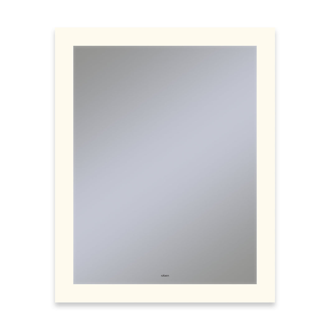 "Vitality 24"" x 30"" x 1-3/4"" rectangle lighted mirror with perimeter light pattern, 2700 kelvin temperature (warm light), dimmable, defogger, tested and certified to California Title 24 standards and meets JA8 2016 requirements"