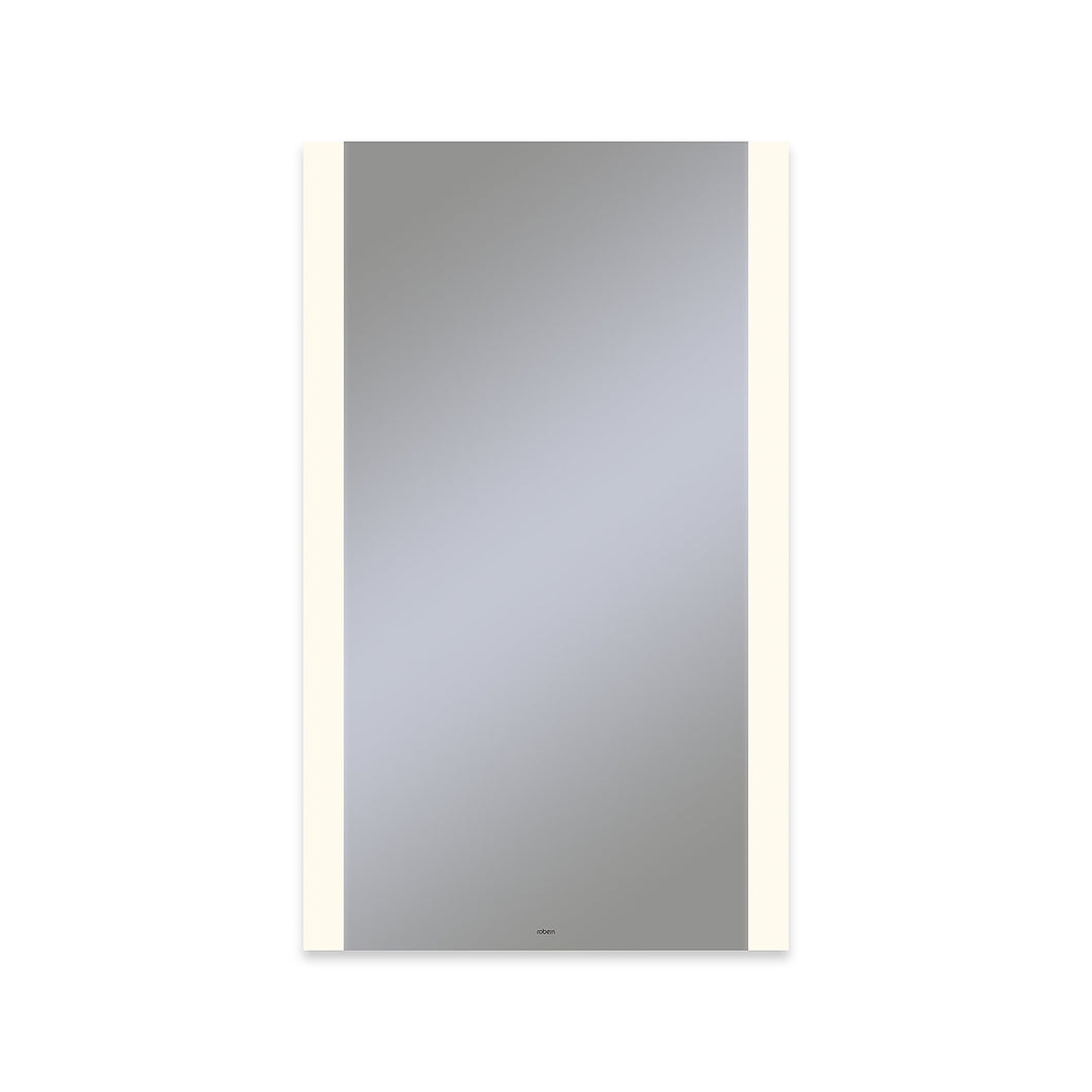 "Vitality 24"" x 40"" x 1-3/4"" rectangle lighted mirror with edge lit light pattern, 2700 kelvin temperature (warm light), dimmable and defogger"