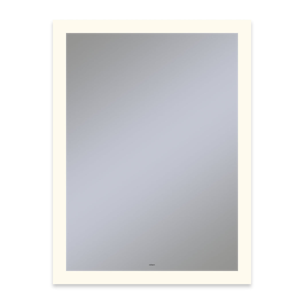 "Vitality 30"" x 40"" x 1-3/4"" rectangle lighted mirror with perimeter light pattern, 2700 kelvin temperature (warm light), dimmable, defogger, tested and certified to California Title 24 standards and meets JA8 2016 requirements"