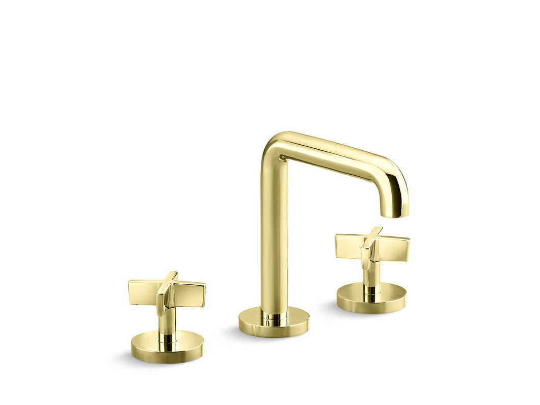 Kallista P24492-CR-CP One Sink Faucet, Tall Spout, Cross Handles