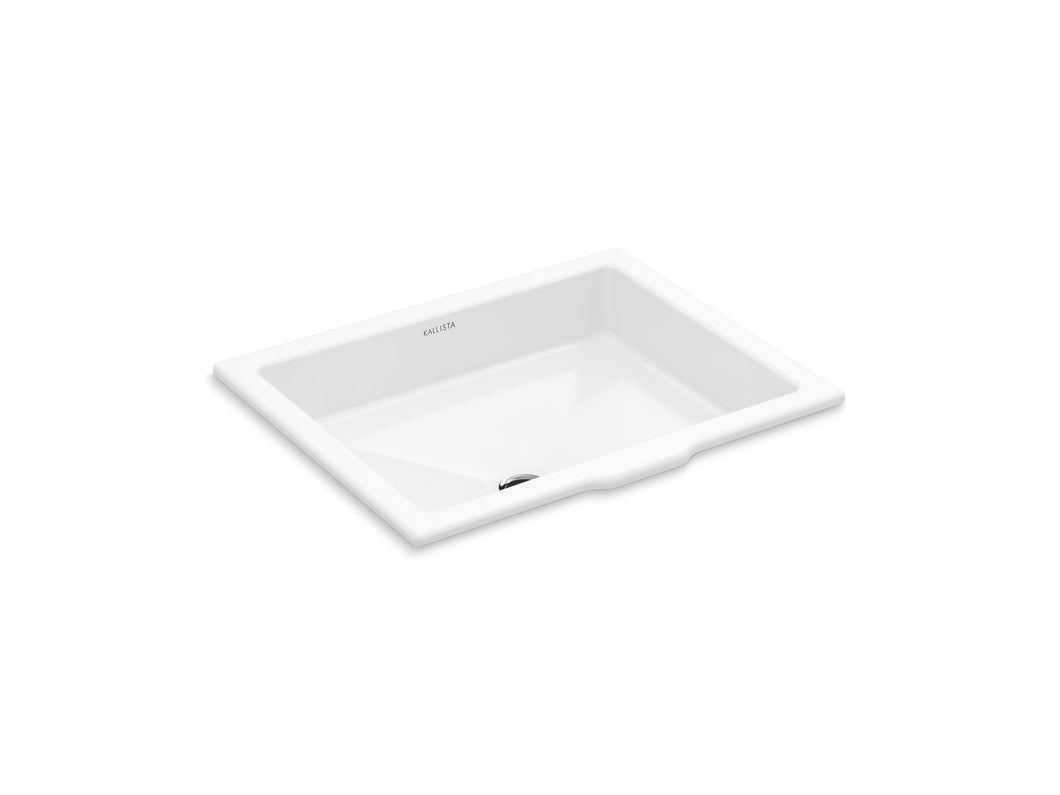 Kallista P74235-WO-0 Perfect Under-mount Sink, Centric Rectangle with Overflow