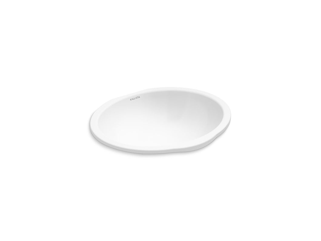 Kallista P74237-WO-0 Perfect Under-mount Sink, Soft Oval with Overflow
