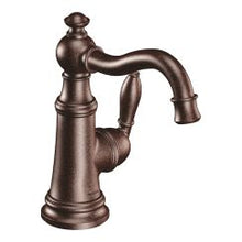 Load image into Gallery viewer, Moen S42107 Weymouth One Handle High Arc Bathroom Faucet in Oil Rubbed Bronze