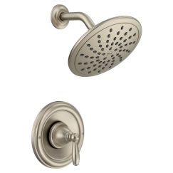 Moen T2252EP Brantford Shower Only System with Rainshower Showerhead without Valve in Brushed Nickel