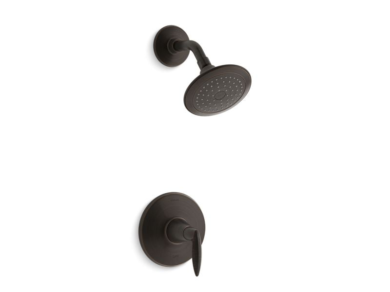 KOHLER TS45106-4-2BZ Alteo Rite-Temp Shower Trim With Lever Handle And 2.5 Gpm Showerhead in Oil-Rubbed Bronze