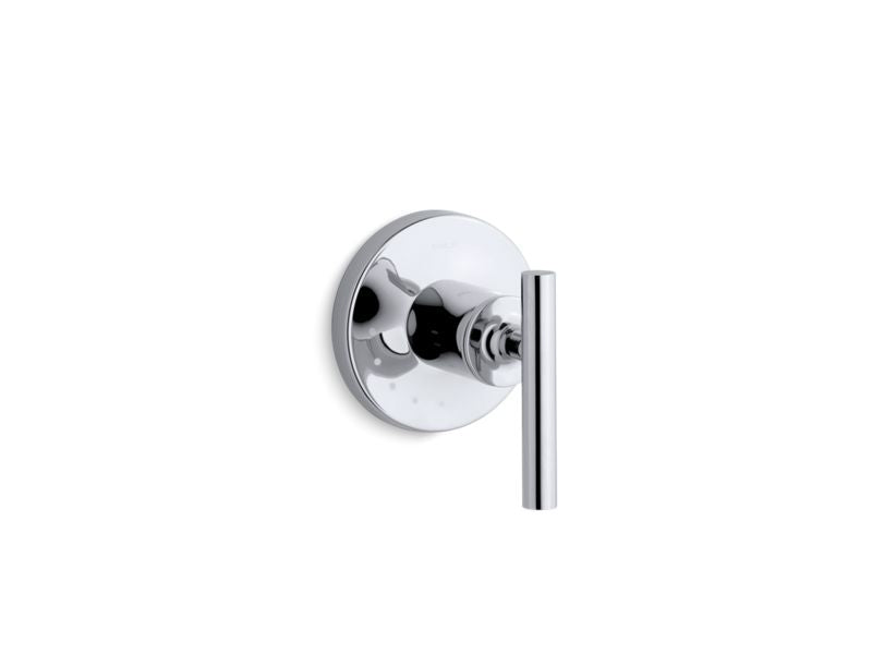 KOHLER T14490-4-CP Purist Valve Trim With Lever Handle For Volume Control Valve, Requires Valve in Polished Chrome