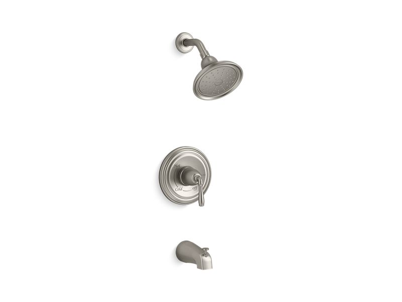 KOHLER TS395-4S-BN Devonshire Rite-Temp Bath And Shower Trim With Slip-Fit Spout And 2.5 Gpm Showerhead in Vibrant Brushed Nickel