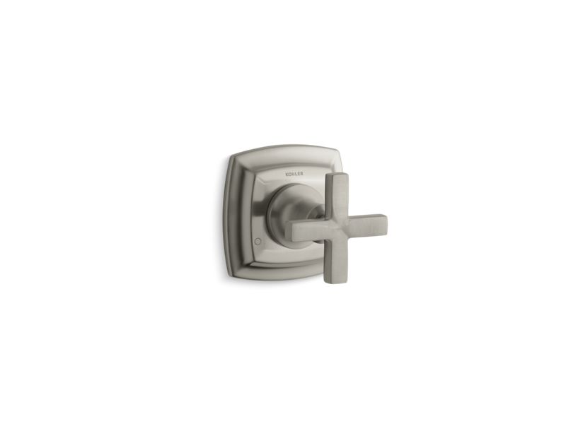 KOHLER T16242-3-BN Margaux Valve Trim With Cross Handle For Transfer Valve, Requires Valve in Vibrant Brushed Nickel