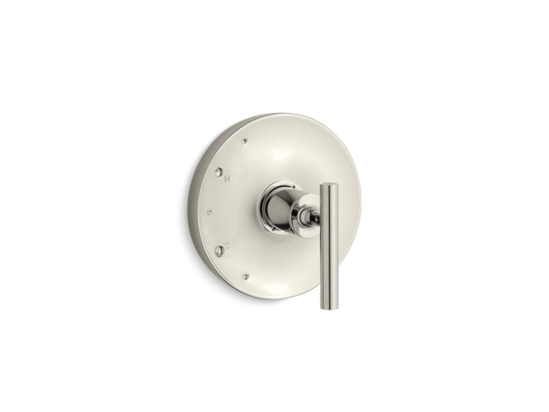 KOHLER TS14423-4-SN Purist Rite-Temp(R) Valve Trim With Lever Handle in Vibrant Polished Nickel
