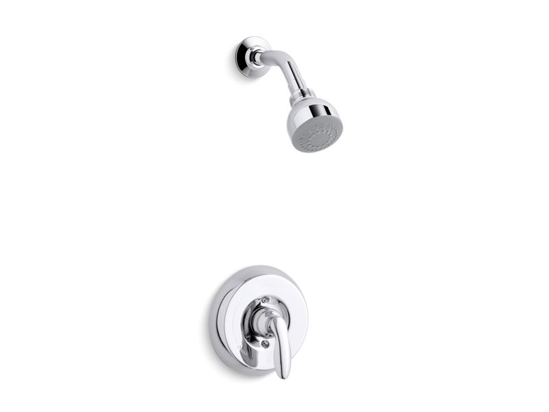 KOHLER TS15611-4-CP Coralais Rite-Temp(R) Shower Valve Trim With Lever Handle And 2.5 Gpm Showerhead in Polished Chrome