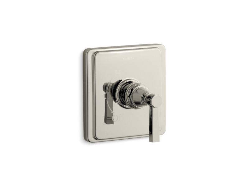 KOHLER TS13135-4A-SN Pinstripe Pure Rite-Temp Valve Trim With Lever Handle in Vibrant Polished Nickel