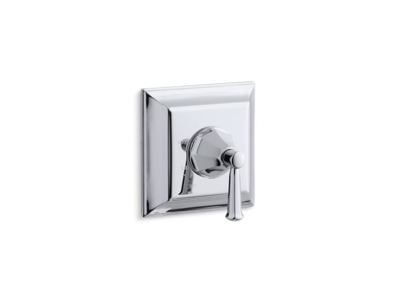 KOHLER TS463-4S-CP Memoirs Stately Rite-Temp Valve Trim With Lever Handle in Polished Chrome
