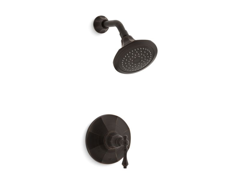 KOHLER TS13493-4-2BZ Kelston Rite-Temp(R) Shower Valve Trim With Lever Handle And 2.5 Gpm Showerhead in Oil-Rubbed Bronze